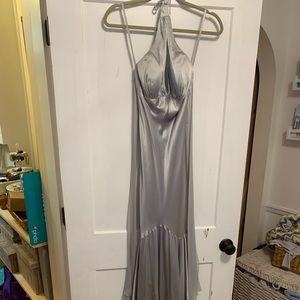 Cache silver prom dress size 2